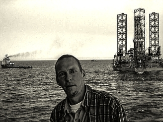 South America- Straits of Magellan. Positioning the rig for jacking up