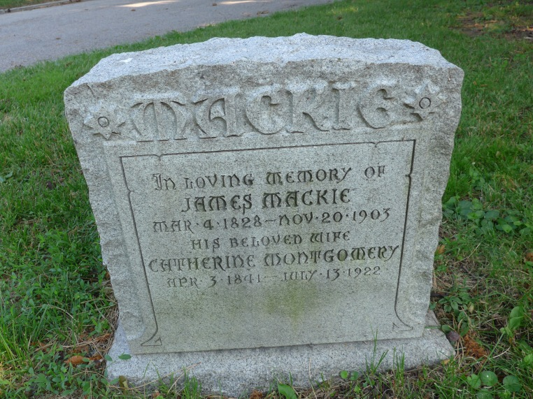 A grave headstone photo for James Mackie and Catherine Montgomery