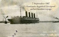 Cunard ocean liner RMS Lusitania